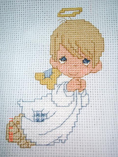 My @Ventures: Cross Stitch: Boy Angel