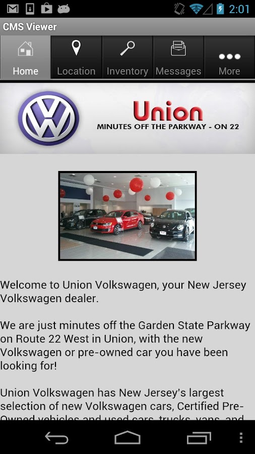 Union Volkswagen - screenshot