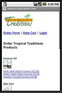 Tropical Traditions Mobile App - screenshot thumbnail
