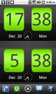 Flip Clock xTheme Widget 4x2- screenshot thumbnail
