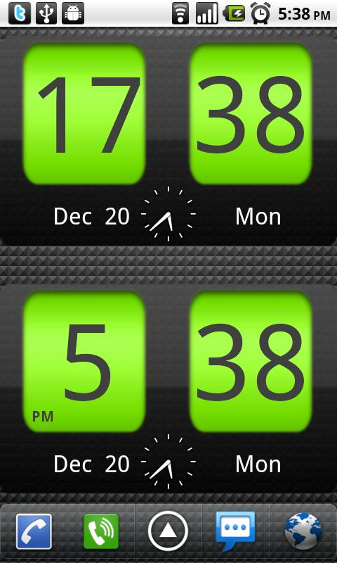 Flip Clock xTheme Widget 4x2- screenshot