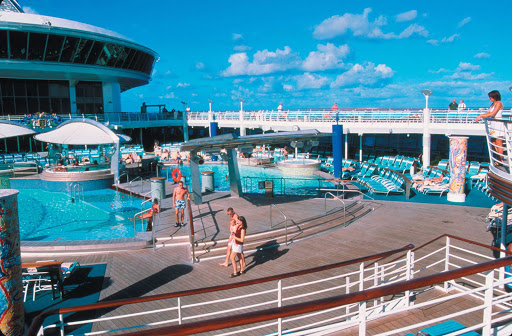Adventure-of-the-Seas-Solarium - Take a dip, relax in the sun, and mingle at the adult-only Adventure of the Seas' Solarium Pool area.