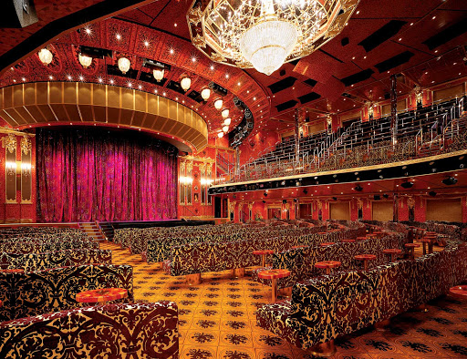 Carnival-Glory-Amber-Palace - Enjoy Vegas-style shows at the multilevel Amber Palace, Carnival Glory's main entertainment venue.