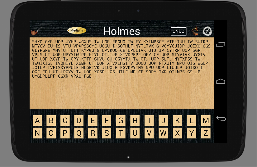 Holmes Cryptic Cipher Puzzle- screenshot