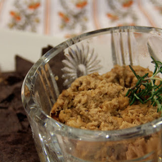 Navy Bean Ricotta Dip with Caramelized Onions and Rosemary.