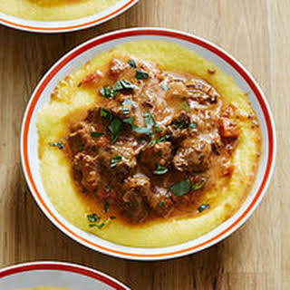 Lamb Stew with Polenta.