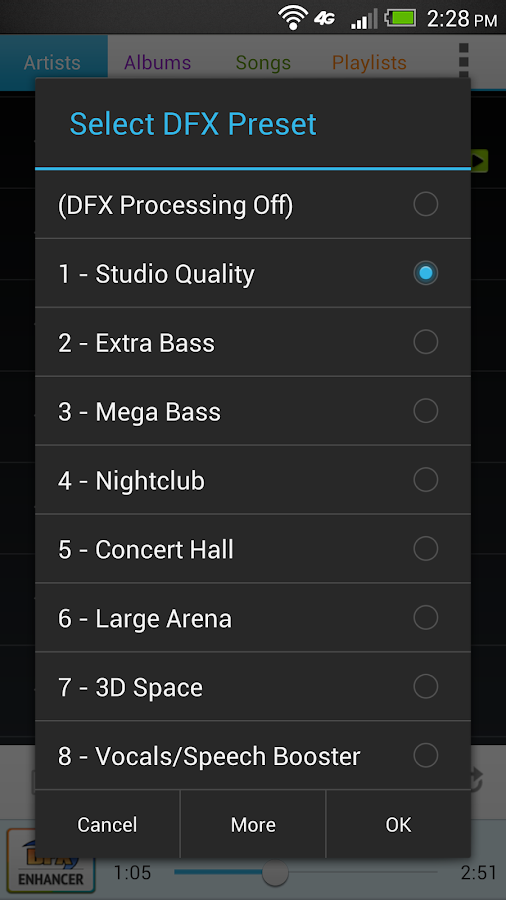 DFX Music Player Enhancer Pro- screenshot