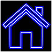Blue Neon Free Theme