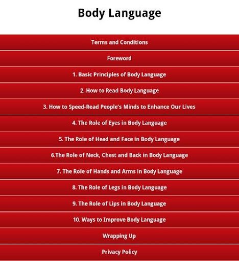 Body Language - Secrets