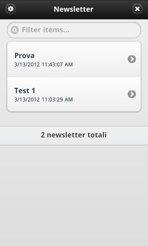 Newsletter- screenshot