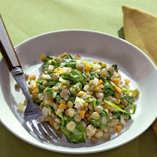 Lentils with Spinach.