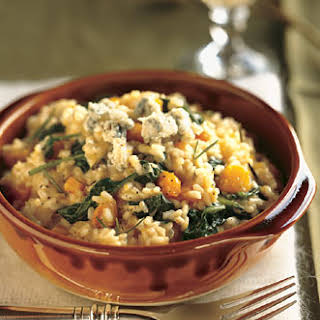 Butternut Squash, Rosemary, and Blue Cheese Risotto.