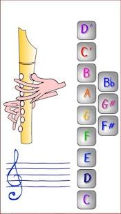 Finger positions for recorder - náhled