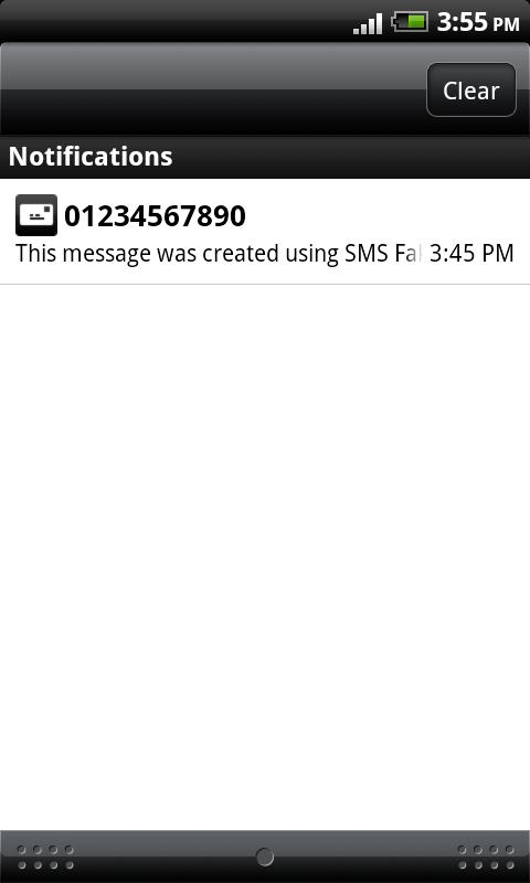 SMS Faker - screenshot