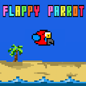 Parrot in Palm Tree Paradise