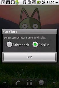 Cat Clock & Weather Forecast - screenshot thumbnail