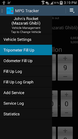 MPG Tracker 3.1.1 screenshot 2015318