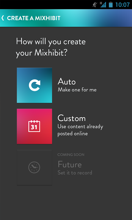 Mixhibit- screenshot