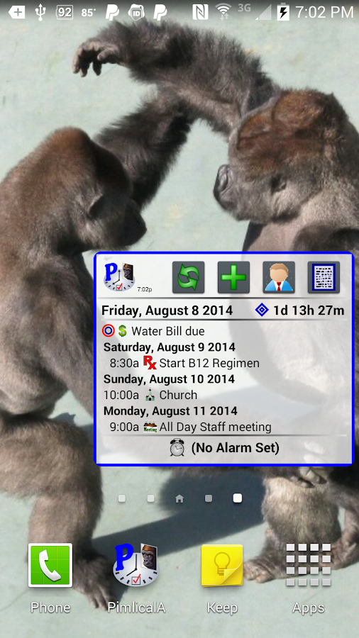 Pimlical Calendar Widget- screenshot