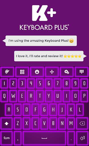 ネオンパープルのキーボード