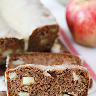 Apple Bread with Brown Butter Glaze