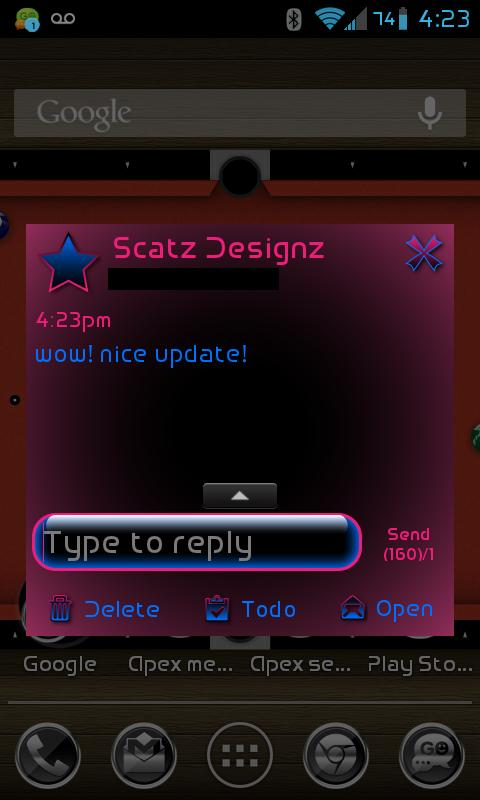 GO SMS PRO FELICE PINK THEME - screenshot