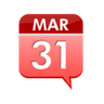 Date In Tray icon