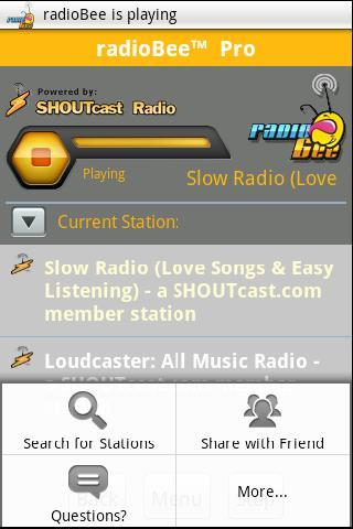radioBee Pro - radio app - screenshot