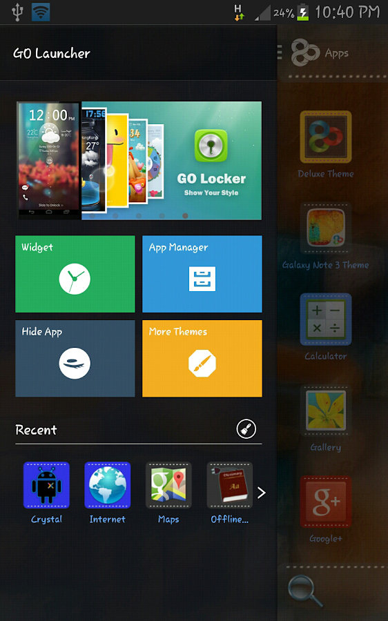 Go Launcher Ex Deluxe Theme - screenshot
