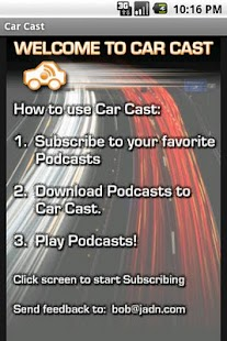 Car Cast Podcast Player - screenshot thumbnail