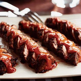 Spiced Pork Tenderloins with Ancho Peanut Sauce.