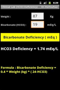 Clinical Lab (HCO3 Deficiency)- screenshot thumbnail