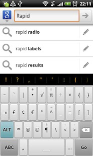 Rapid - HD Keyboard Theme - screenshot thumbnail