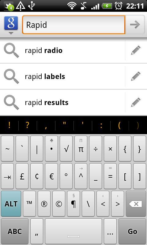 Rapid - HD Keyboard Theme - screenshot