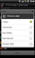 Screenshot of Print My Calendar Free