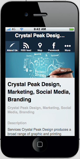 Crystal Peak Design App