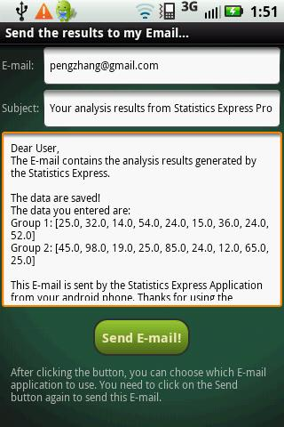 Statistics Express Pro - screenshot