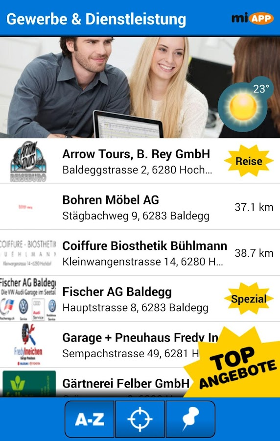 miAPP Hochdorf- screenshot