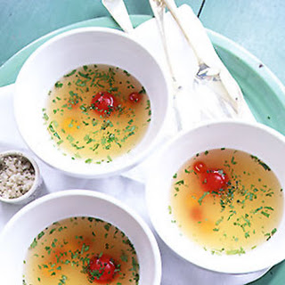 Chilled Tomato Consommé.