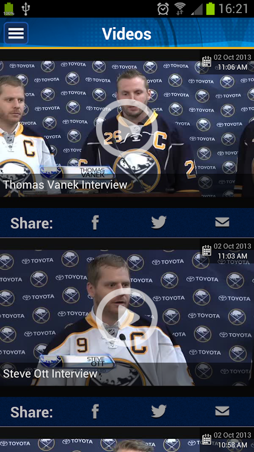 Buffalo Sabres Official App - screenshot