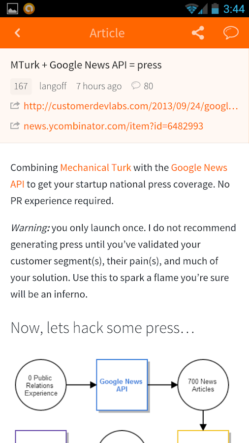 Hacker News (YC) - screenshot