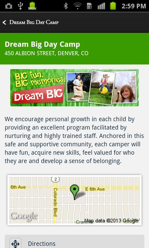 Dream BIG Day Camp- screenshot
