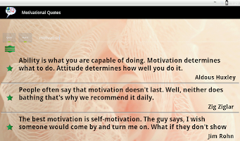 Screenshot of Motivational Quotes