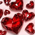 Lovely Hearts HD Wallpaper logo