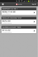 Screenshot of First Bank Mobile