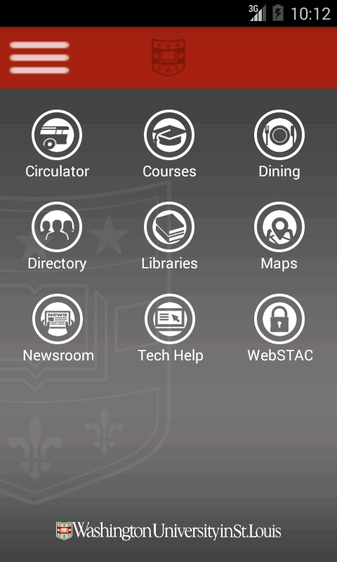 WUSTL Mobile - screenshot