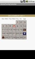 Screenshot of Global Family Calendar