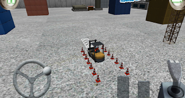 Screenshot of 3D forklift parking Madness