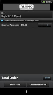 Alamo Drafthouse Ticketing App - screenshot thumbnail