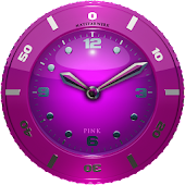 Clock Widget pink HQ
